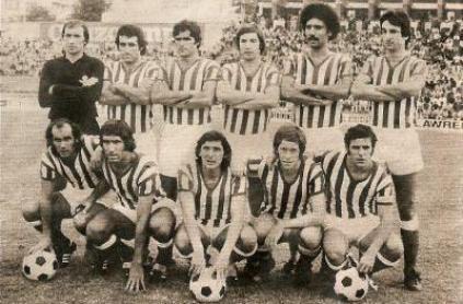Alineación Betis-Partizán Trofeo Colombino 1976