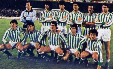 Alineación Barcelona-Betis Liga 1984