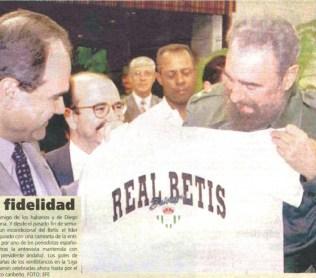 Fidel Castro y la camiseta del Betis