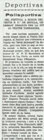 "1933-Abril 04-Martes-Tarragona.-""Homenaje al Betis Balompié"""
