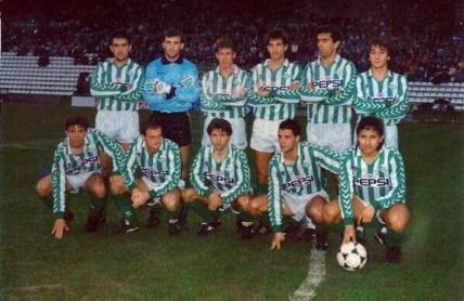 Alineación Betis-Castilla Liga 1989