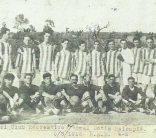 1916-Marzo 05-Velódromo: Club Huelva Recreativo-4 Real Betis Balompié-2.-99Aniversario.