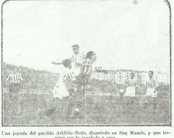 1935-Abril 14-San Mamés: Athlétic Club-0 Betis Balompié-0.-80Aniversario-Datos Estadísticos.