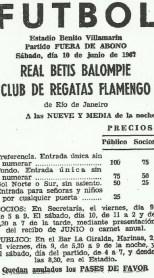 1967-Junio 10-Amistoso-Real Betis Balompié-1 Club Regatas Flamengo-0.-48Aniversario.