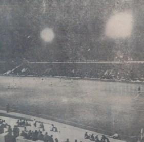 Nueva iluminación del Villamarín 1972