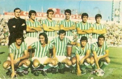 Alineación Betis-Rayo Vallecano Liga 1973