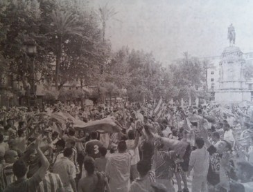 Celebración del ascenso 2001