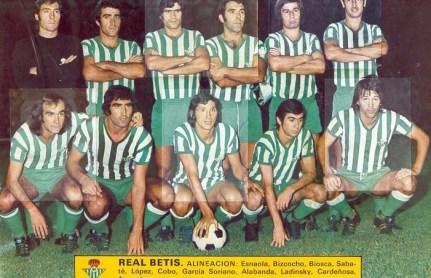 Alineación Betis-Ferencvaros Trofeo Ciudad de Sevilla 1975