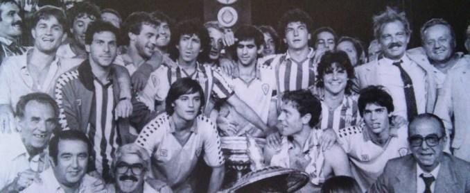 Mágico González con la camiseta del Betis 1983