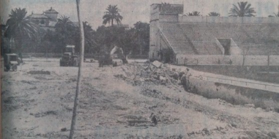Obras en Gol Norte 1971