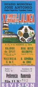 1974-Agosto 04-Subcampeón Real Betis Balompié-1Hajduk Split-2.-41Aniversario.
