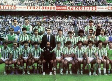 Presentación del Betis 1985