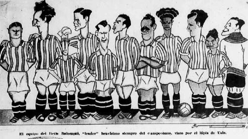 Dibujo del Betis Campeón de Liga 1935