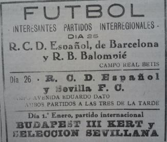 Betis-Español Amistoso 1930