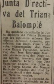 Directiva del Triana Balompié 1963