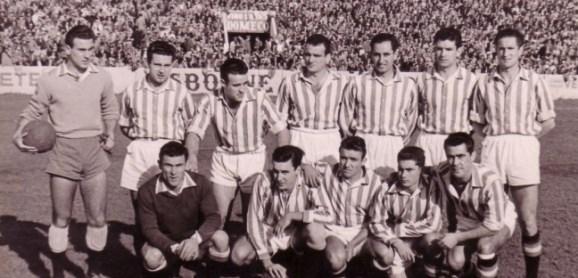 1955-Febrero 06-SegundaG2.-Real Betis Balompié-2 Atlético Tetuán-1.-61Aniversario.