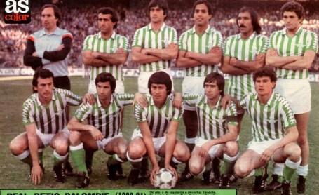 Alineación Atlético de Madrid-Betis Liga 1981