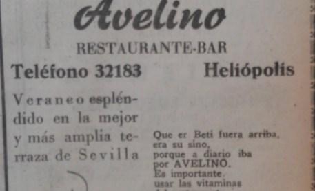 Publicidad y Betis en 1954