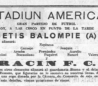 1935-Mayo 30-Trofeo Cámara Comercio Córdoba.-Rácing Fc-2 (4) Betis BalompiéA-3 (9).-81Aniversario.