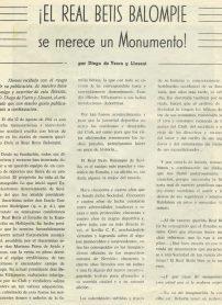 ¡El Real Betis Balompié se merece un monumento¡ Diego de Isern y Llorent