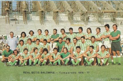 Entrenamientos del Betis 1976
