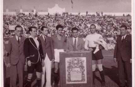 1940-Septiembre 8-ARANDA.-Real Betis Balompié-5 Xerez FbC-2.-76Aniversario.