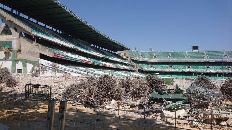 Estado de la demolición de Gol Sur a lunes 11 de Julio