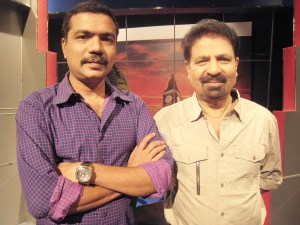 Pravasalokam's producer Rafeeq Ravuther (left) and anchor PT Kunju Muhammed