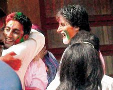 Bachchans celebrating Holi