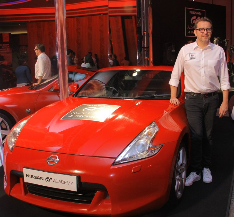 Guillaume Sicard -President Nissan India Operations, at the launch of second season of GT Academy in India.