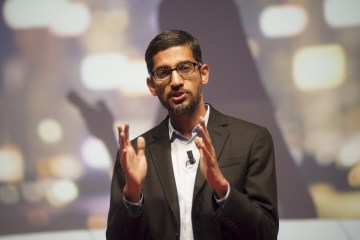 02 Mar 2015, L'Hospitalet de Llobregat, Spain --- L'hospitalet de Llobregat, Spain. 2nd March 2015 -- Sundar Pichai, senior vice president of Android, Chrome and Apps, talks during a conference on the first day of the Mobile World Congress 2015 in Barcelona. -- The first day of the Mobile World Congress 2015 saw companies gathered in Barcelona to show off their new products in what is seen as the most important international fair for the mobile industry. --- Image by © Charlie Pérez/Demotix/Corbis