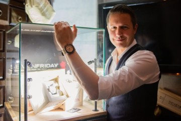 Daniel Niederer, CEO, SevenFriday and his watch
