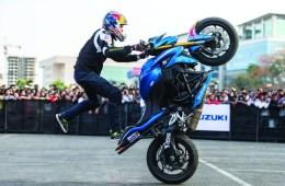 Red Bull athlete and champion stunt rider Aras Gibieza