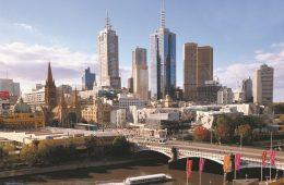Yarra River and Melbourne Skyline