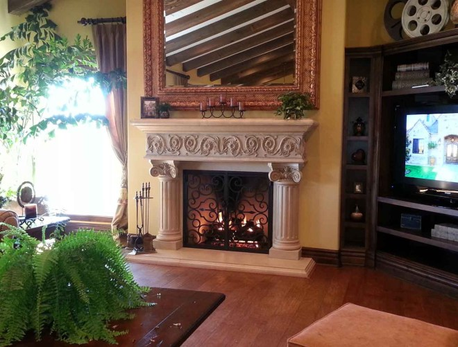 Fireplace mantel in San Diego CA