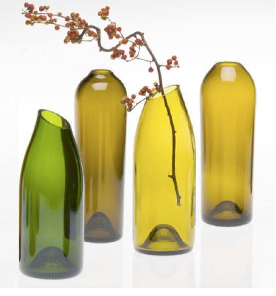 Cómo hacer jarrones de botellas de vidrio