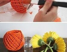 ovillos-lana-jarrones-flores