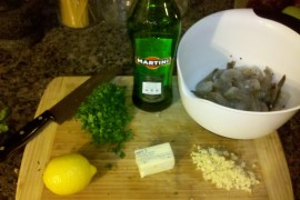 shrimp scampi - ingredients