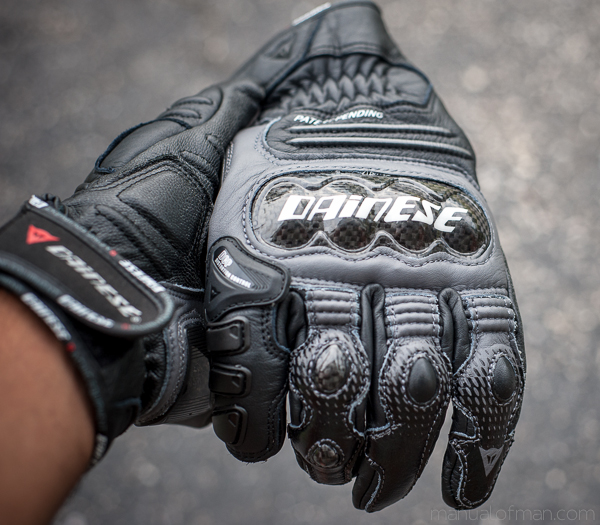 Dainese Carbon Cover S-ST Gloves - Knuckle Armor