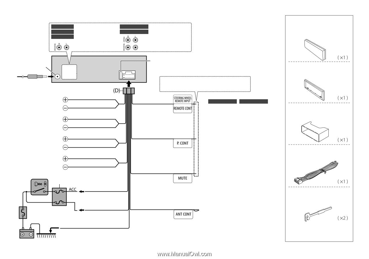 wiring connection kdc 258u kdc 158u kdc 118u kdc mp258u kdc mp158u