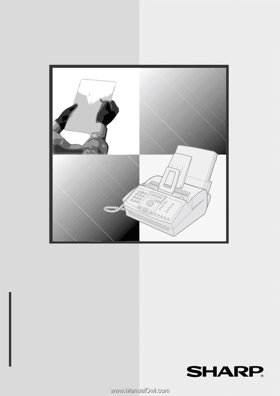 sharp facsimile manual