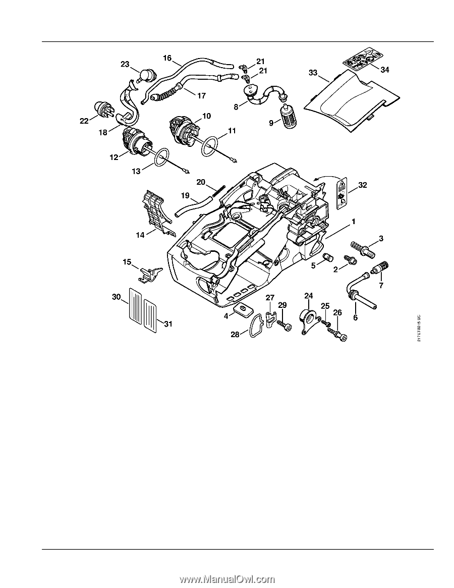 stihl ms 192 parts diagram