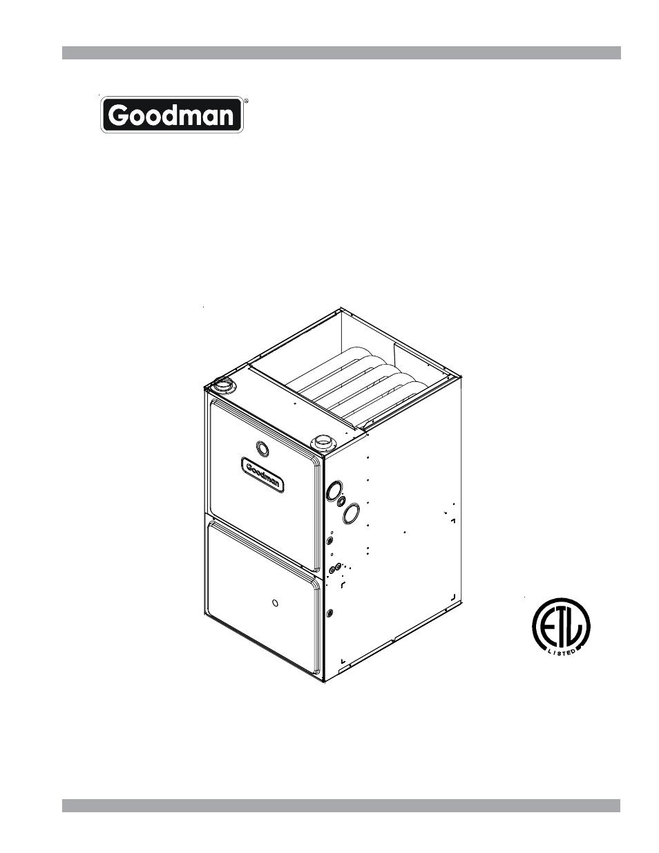 Goodman Mfg Gmh95 User Manual 15 Pages
