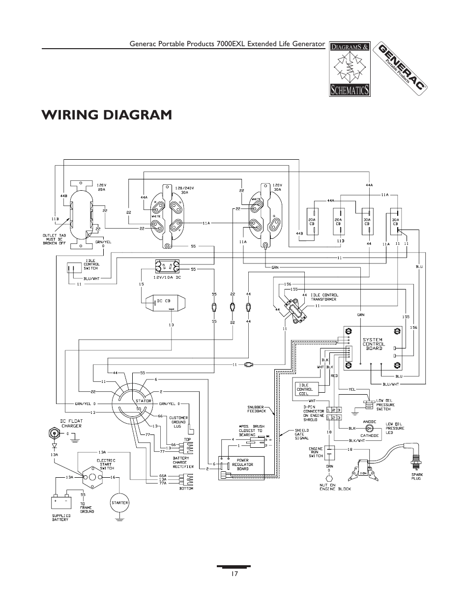 wiring diagram for generac generator