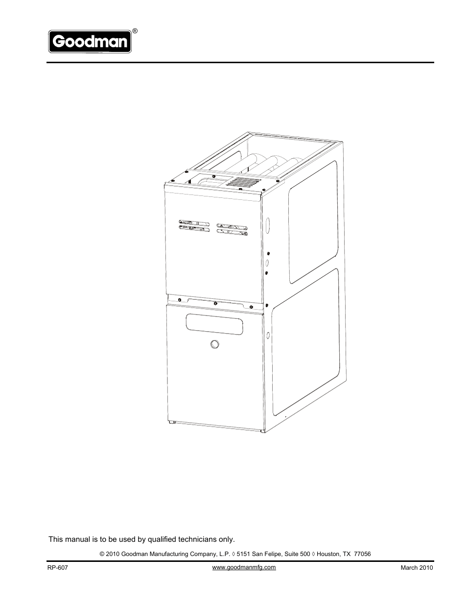 Goodman Mfg Gms80905cncc User Manual 12 Pages Also For