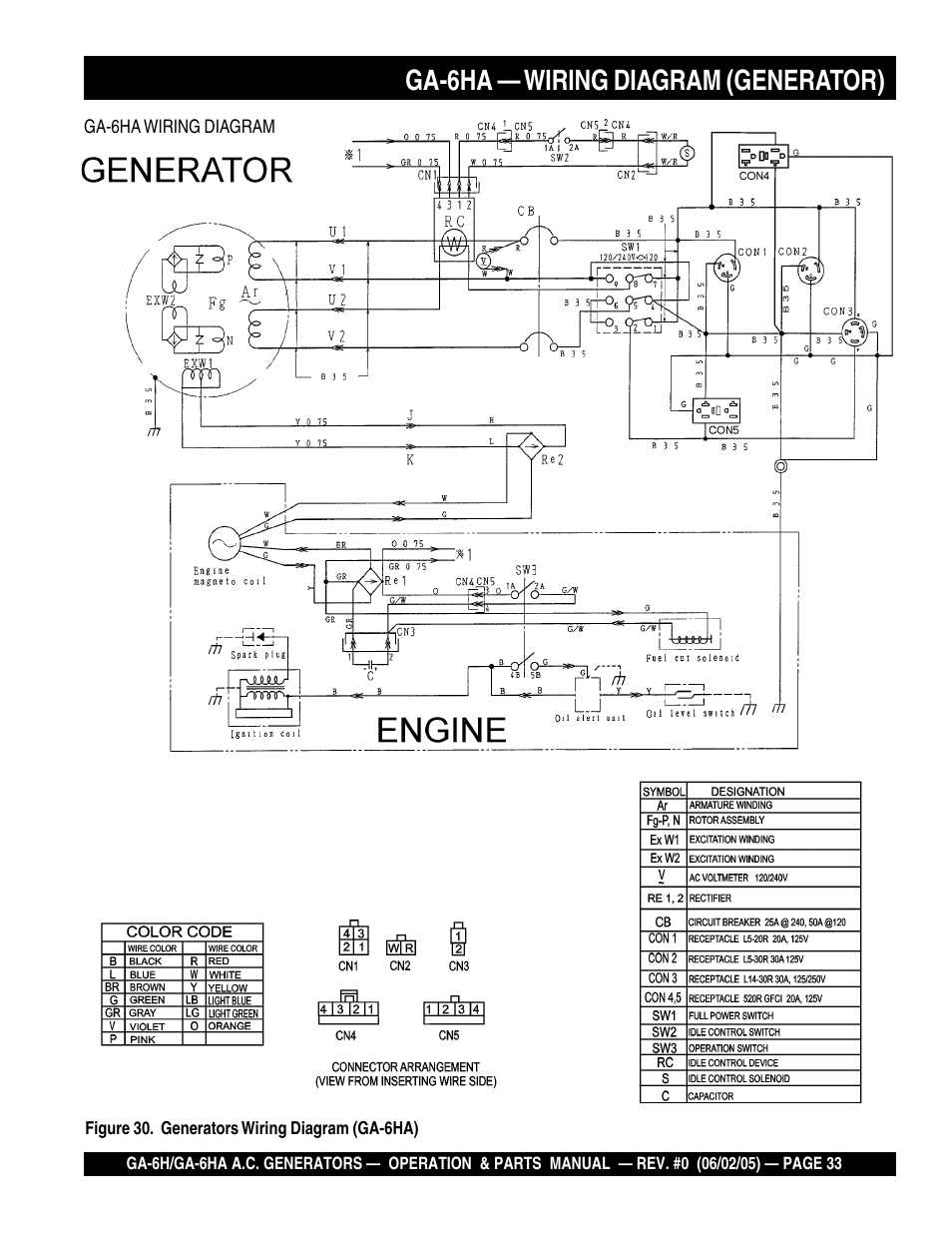multiquip generator 4hk1x wiring schematic