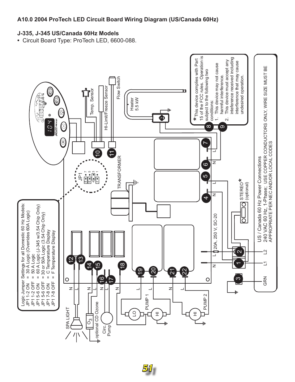 wiring diagram for jacuzzi j 315