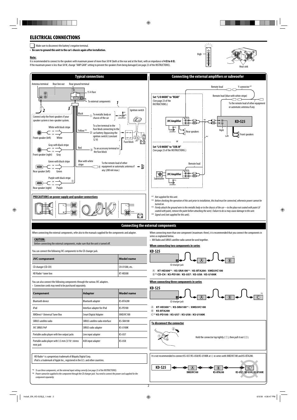 jvc kd s25 manual