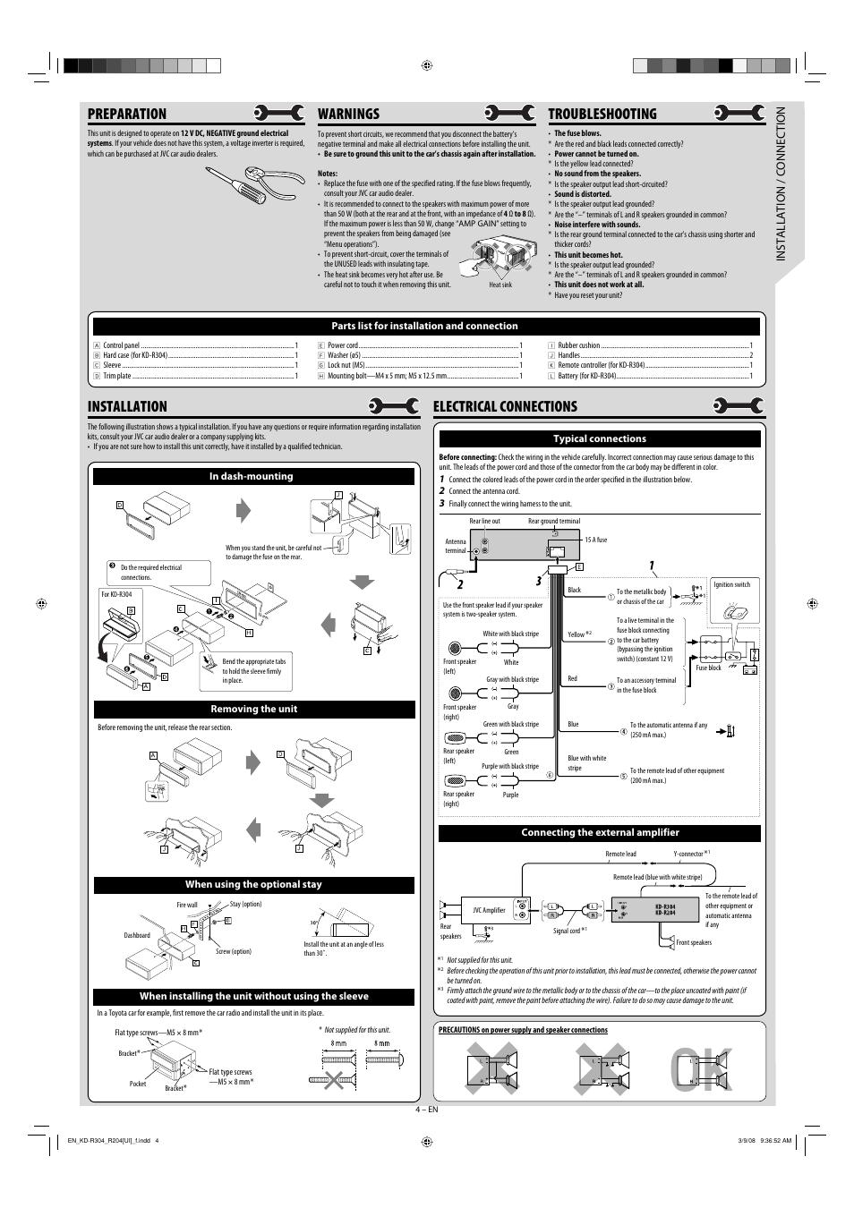 jvc kd r320 wiring diagram model
