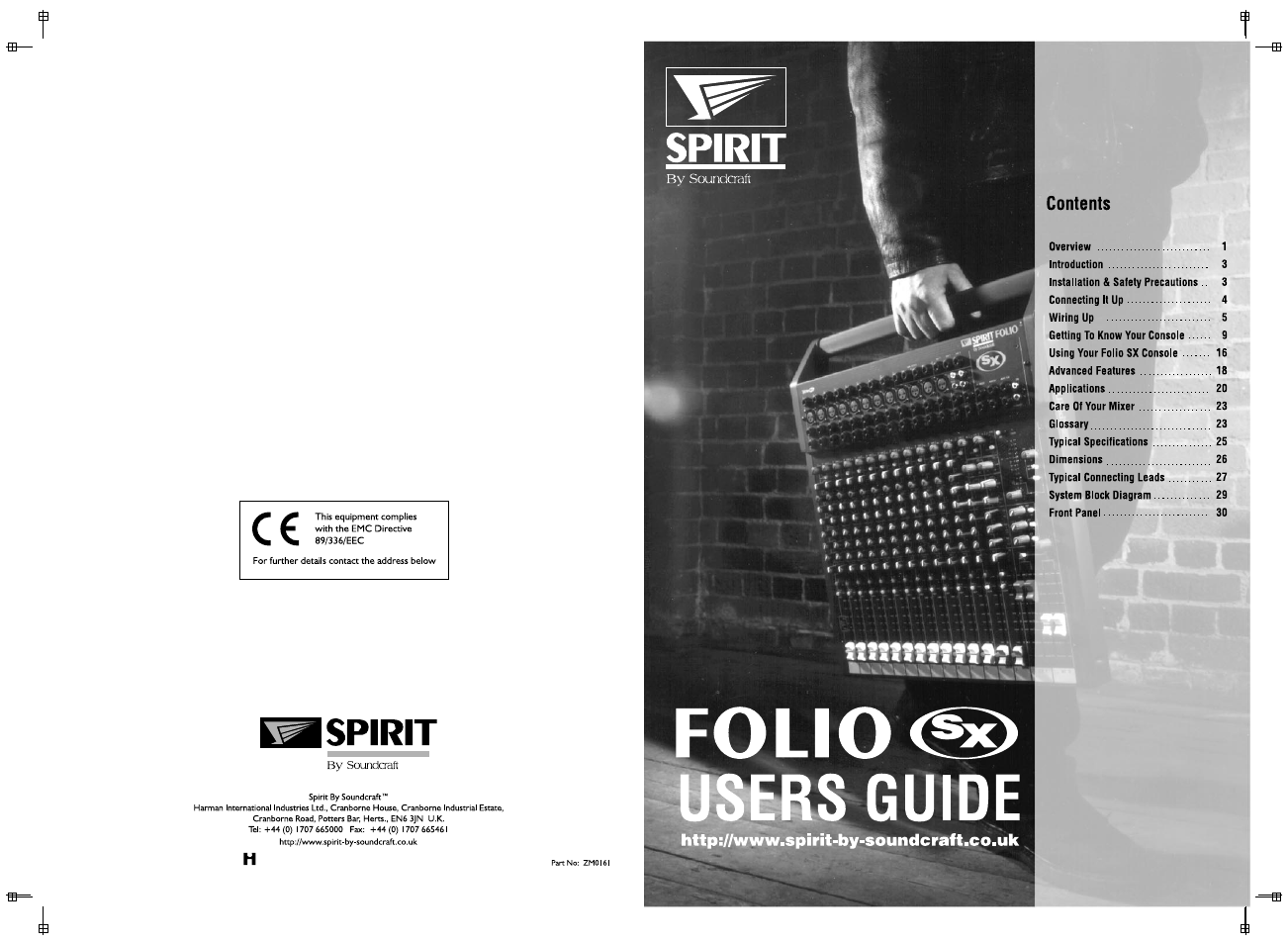 spirit folio manual
